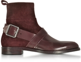 Pierre Hardy Fusion Burgundy Suede & Leather Ankle Boot