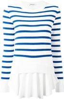 Dondup striped layer jumper - women - Cotton/Polyamide/Spandex/Elastane/Viscose - S