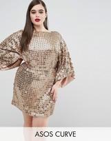Asos RED CARPET Gold Disc Sequin Dress