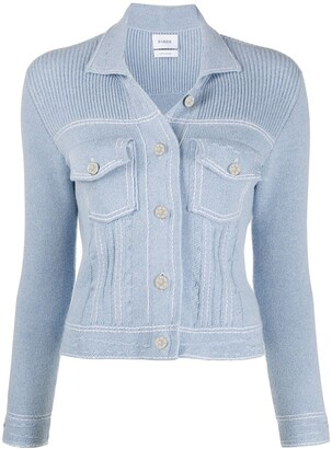 Barrie Denim-Inspired Knitted Cardi-Jacket