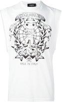 DSQUARED2 tattoo graphic sleeveless T-shirt
