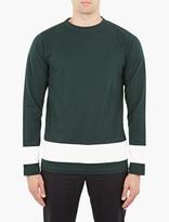 Marni Green Panelled Long-sleeve T-shirt