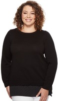 MICHAEL Michael Kors Plus Size Long Sleeve Tiny Dot Hem Sweater Women's Sweater