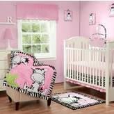 Baby Boom Babyboom I Luv Zebras 3 Piece Bedding Set Pink