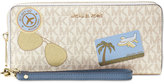 MICHAEL Michael Kors Signature Fly Away Travel Continental Wallet
