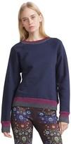 Cynthia Rowley Metallic Rib Sweatshirt
