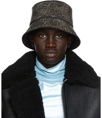 Kara Black Hematite Mesh Bucket Hat
