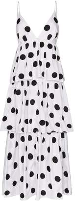 Mara Hoffman Bari polka dot organic cotton maxi dress