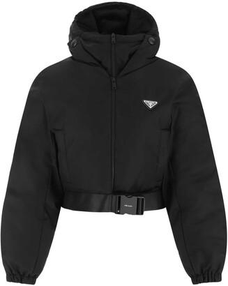 Prada Buckle-Detailed Cropped Jacket