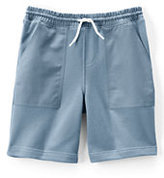 Classic Boys Woven Trim Sweat Shorts-Light Beige