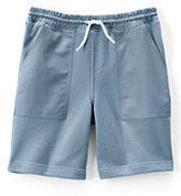 Lands' End Toddler Boys Woven Trim Sweat Shorts-Rich Pine