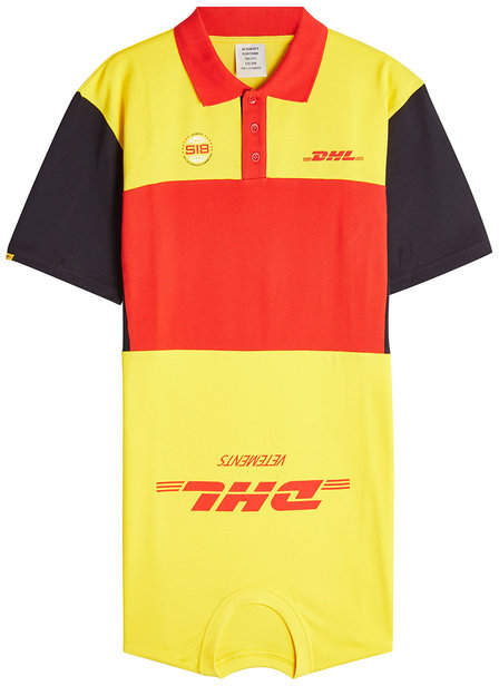 Vetements DHL Cotton Polo Dress