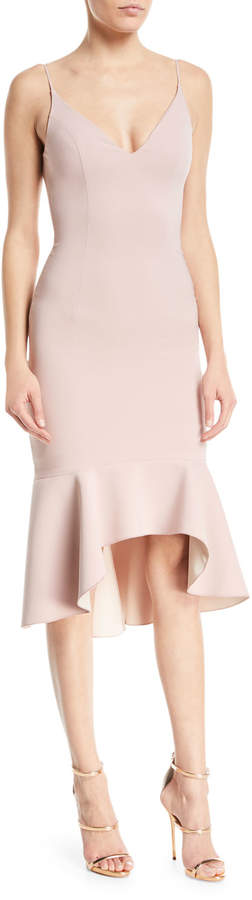 Maria Bianca Nero Christy Techno Sleeveless High-Low Cocktail Dress