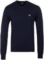 Armani Jeans Navy V-neck Sweater