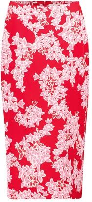 Diane von Furstenberg Kara floral cady pencil skirt