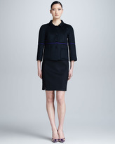 Chado Ralph Rucci Cashmere Pencil Skirt, Black