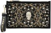 Philipp Plein skull and stud embellished clutch