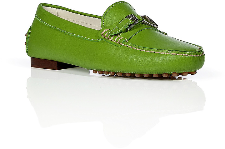 Ralph Lauren Kiwi Leather Loafers