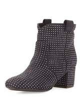 Laurence Dacade Belen Studded Suede Ankle Boot, Anthracite Navy