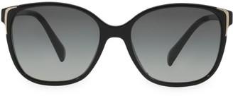 Prada Square Metal-Trim Plastic Sunglasses
