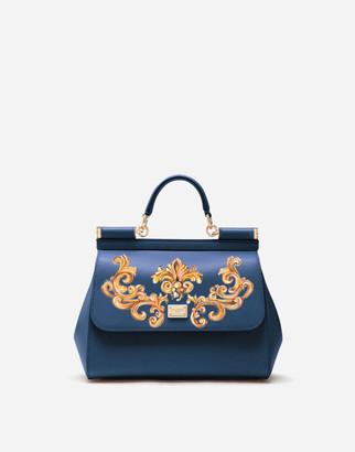 Dolce & Gabbana Medium Sicily Handbag In Dauphine Leather