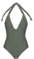 Mikoh Topanga V-neck swimsuit