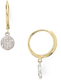 Bloomingdale's Marc & Marcella Two-Tone Diamond-Encrusted Disc Drop Earrings in Gold-Plated Sterling Silver & Sterling Silver - 100% Exclusive