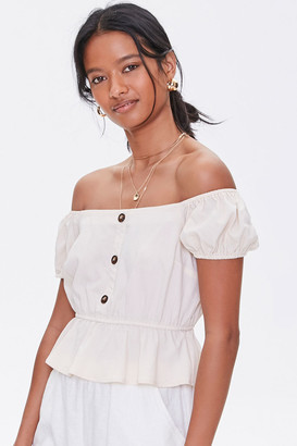 Forever 21 Off-the-Shoulder Puff Sleeve Top