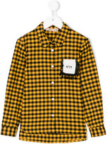 No21 Kids check fitted shirt