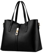 D Major Womens Pu Leather Handbag Lady's Line Tote Bags