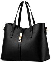 D Major Womens Pu Leather Handbag Lady's Line Tote Bags