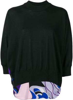 Emilio Pucci Hanami Print Panel Sweater