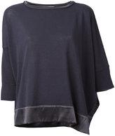 Fabiana Filippi silk trim top - women - Silk/Cotton/Linen/Flax/Spandex/Elastane - S