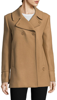 Love Moschino Wide Collar Wool Coat