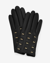 Ted Baker Micro Bow Leather Gloves Black