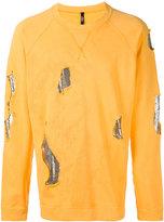 Versus metallic patch sweatshirt - men - Cotton/metal - M