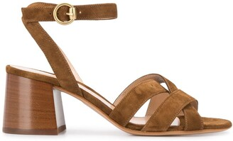 Gianvito Rossi Strappy Block Heel Sandals