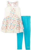 Juicy Couture Crochet & Floral Tunic & Legging Set (Little Girls)