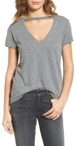 Pam & Gela Women's Cutout V-Neck Tee