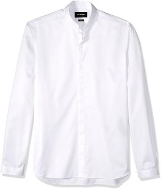 The Kooples Men's Plain Cotton Dress Shirt with a Stand-Up Collar