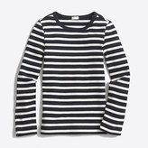 J.Crew Factory Girls' long-sleeve striped layering T-shirt