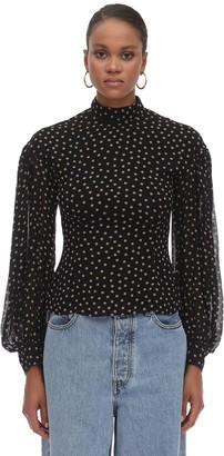 Ganni Printed Georgette Shirt