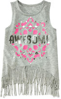 Arizona Fringe Bottom Tank Top - Preschool Girls 4-6x