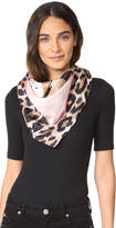 Kate Spade Cheetah Face Silk Square