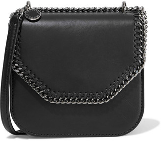 Stella McCartney Falabella Box Chain-trimmed Faux Leather Shoulder Bag