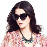 LIANSAN Cat Eye Glasses Brand Designer Glossy Acetate Sunglasses P401