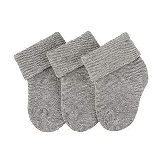 Sterntaler first sock, Pack of 3, Silver