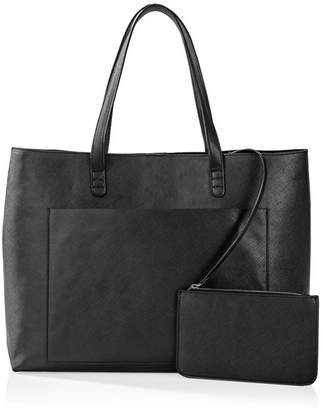 Cathy's Concepts Cathy Concepts Vegan Saffiano Leather Tote And Clutch Set