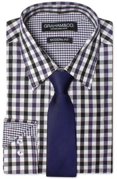 Nick Graham Men's Modern-Fit Shirt and Tie