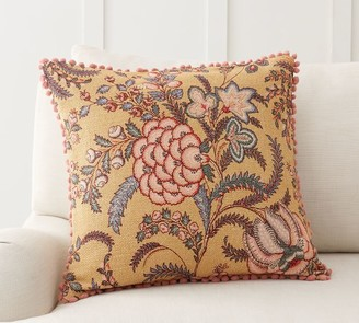 Pottery Barn Sorrel Floral Embroidered Pillow Cover